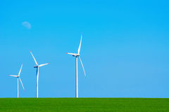 Turbines de vent en Bulgarie Photos stock