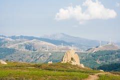 Turbines de vent en montagne sicilienne Photos libres de droits
