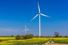 Turbines de vent en Pologne Photo stock