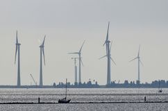 Turbines de vent en Zélande photos libres de droits