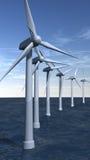 Turbines de vent extraterritorial en verticale illustration de vecteur