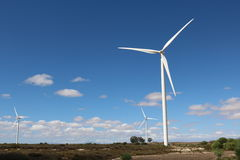 Turbines de vent, le Cap-Occidental, Afrique du Sud Photo stock