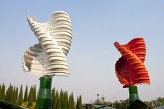 Turbines de vent verticales d'axe image stock