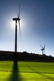 Turbines de vent, zone jaune Image libre de droits