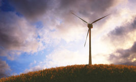 Turbines de vent, zone jaune illustration stock