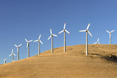 Turbines de Wnd en Californie Photos libres de droits