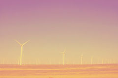 Turbines in the desert lomography Royalty Free Stock Photo
