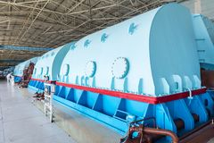 Turbines in the Nuclear Power Plant stock photos