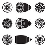 Turbines icons Stock Image