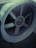 Turbines in large air conditioning units royalty free stock photography