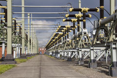 Turbines of a Powerplant Royalty Free Stock Image