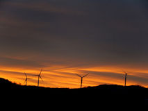 Turbines at Sunrise in Vermont Mountains Royalty Free Stock Photos