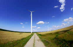 Turbines in wind farm Stock Image