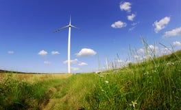 Turbines in wind farm Stock Photo
