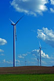 Turbines in wind farm Royalty Free Stock Photos