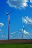 Turbines in wind farm Royalty Free Stock Photos