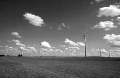 turbines in wind farm Royalty Free Stock Photography