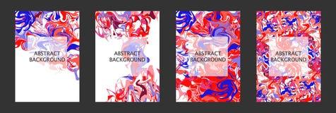 Turbinii di marmo o delle ondulazioni dell'agata Pitture acriliche liquide con i colori luminosi fotografia stock