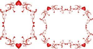 Turbinii rossi del cuore Immagini Stock Libere da Diritti