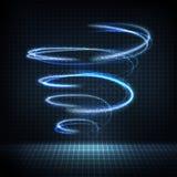 Turbinio d'ardore con le linee distorte, scintille luminose illustrazione vettoriale