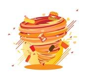 Turbinio degli alimenti industriali, calorie pazze di uragano, illustrazione di vettore royalty illustrazione gratis
