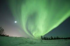 Turbinio dell'aurora vicino a Fairbanks Immagine Stock Libera da Diritti