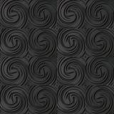turbinio di carta scuro Wave del vento trasversale di vortice a spirale di arte 3D Fotografia Stock
