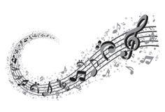 Turbinio di musica Immagini Stock