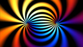 Turbinio psichedelico di colore stock footage