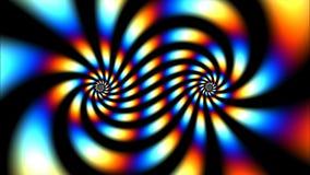 Turbinio psichedelico di colore archivi video