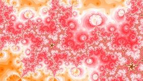 Turbinio a spirale bianco giallo rosa di frattale di Wave Immagini Stock Libere da Diritti