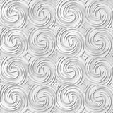 turbinio Wave del vento trasversale di vortice a spirale di arte del Libro Bianco 3D Immagine Stock