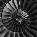 Turbinowych ostrzy skrzydeł spirali skutka fractal wzoru abstrakcjonistyczny tło Ślimakowatej produkci przemysłowa kruszcowy turb Zdjęcia Stock