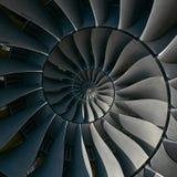 Turbinowych ostrzy skrzydeł spirali skutka fractal wzoru tła spirali abstrakcjonistycznej produkci przemysłowa kruszcowy schodowy Zdjęcie Stock
