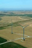 turbinwindmill royaltyfria bilder