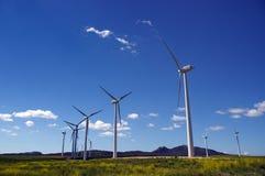 turbiny pola wiatr Obraz Royalty Free