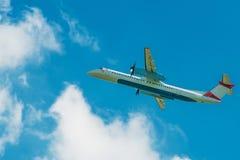 Turboélice Jet Airplane Imagens de Stock