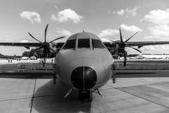 Turbośmigłowy taktyczny wojskowy odtransportowywa samolotu EADS CASA C-295M Fotografia Stock