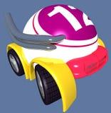 Turbo Ball. Bingo ball car vector illustration
