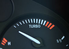 Turbo boost indicator stock photography