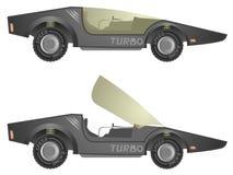 Turbo  car. Creative design of turbo  car Stock Image