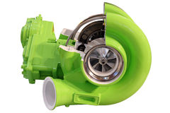 Turbo charger isolated Stock Photography