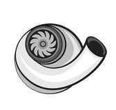 Turbo charger vector element. Automobile turbo charger vector element Royalty Free Stock Photography