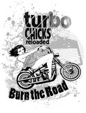 Turbo chicks. Illustration design available in vector format Stock Photography