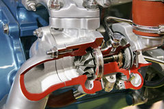 Turbo compressor cross section Stock Images