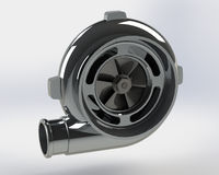 Turbo Compressor 3D render Stock Photo