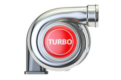 Turbo concept, 3D rendering. On white background Royalty Free Stock Photos