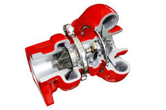 Turbo cutaway. Cross section view Royalty Free Stock Photography