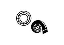 Turbo. Engine logo Royalty Free Stock Images