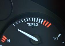 Turbo-Erhöhungsschauzeichen Stockfotografie